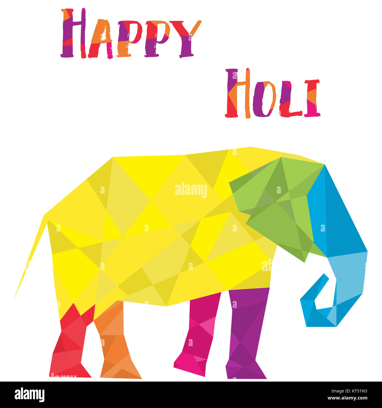 Polygon Gmbh elephant in polygon cubist style vector stock photo royalty free