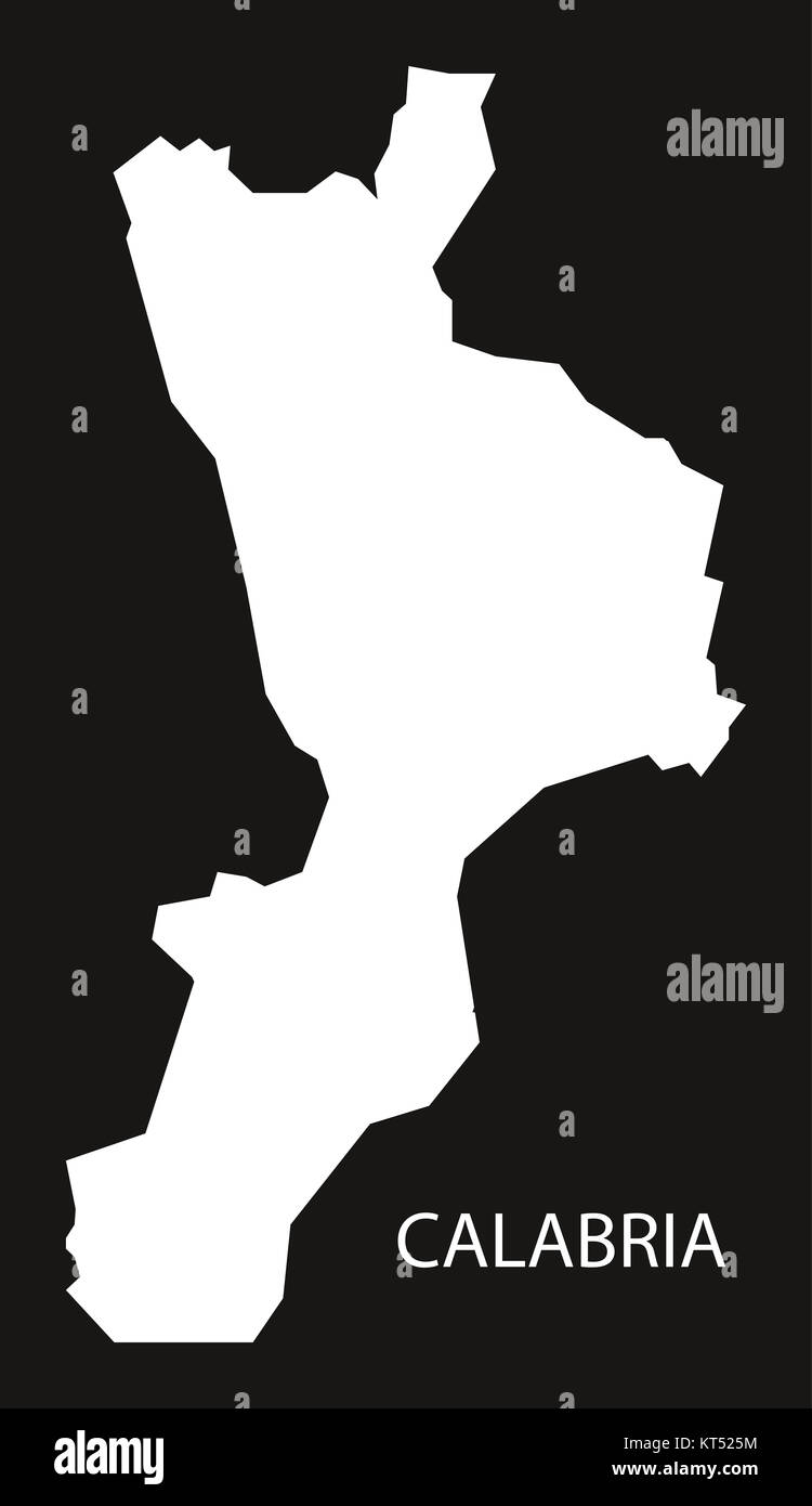 Calabria Italy Map Black Inverted Silhouette Stock Photo 169756544
