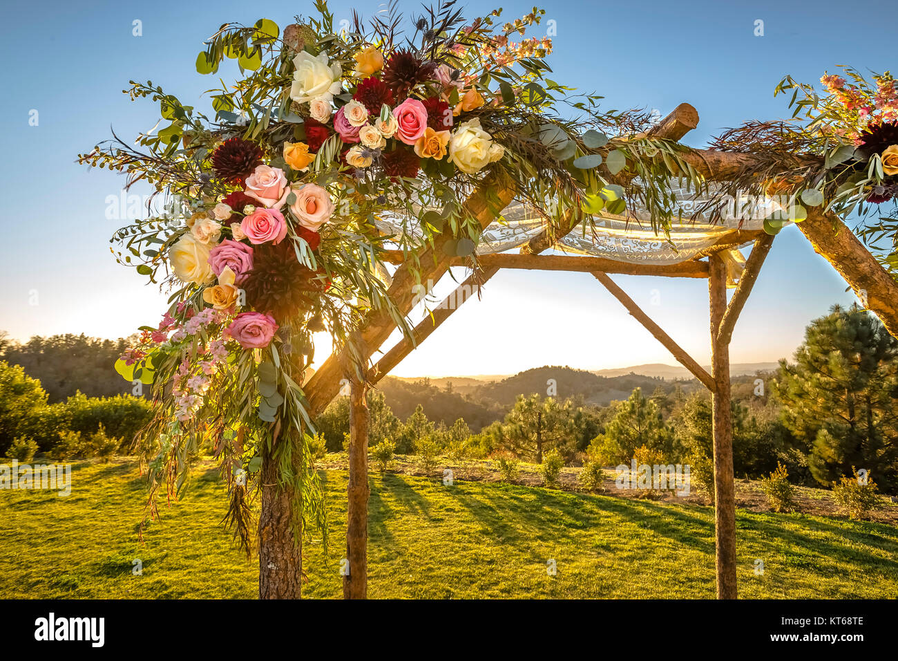 Jewish traditions wedding ceremony. Wedding canopy chuppah or huppah decorated with flowers - Stock Image & Marriage Canopy Stock Photos u0026 Marriage Canopy Stock Images - Alamy