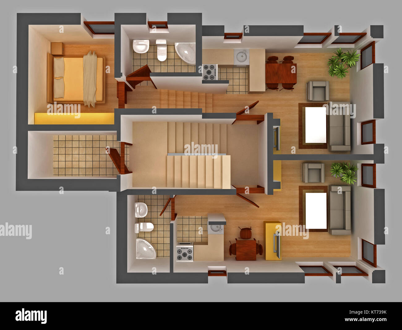 Technical drawing cad stock photos technical drawing cad for Apartment stock plans