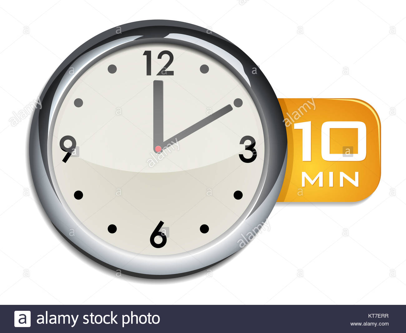 office wall clock timer 10 minutes stock photo 169810363 alamy