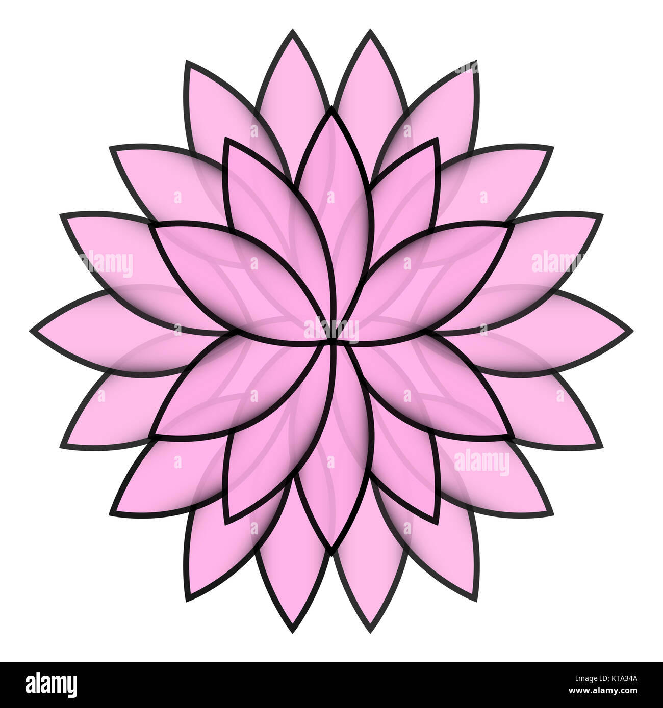Pink flower lotus on white background isolated stock photo royalty pink flower lotus on white background isolated izmirmasajfo