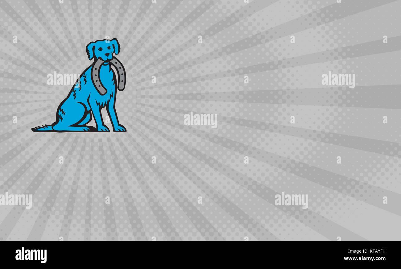 Blue Dog Farrier Business Card Stock Photo 169886181 Alamy
