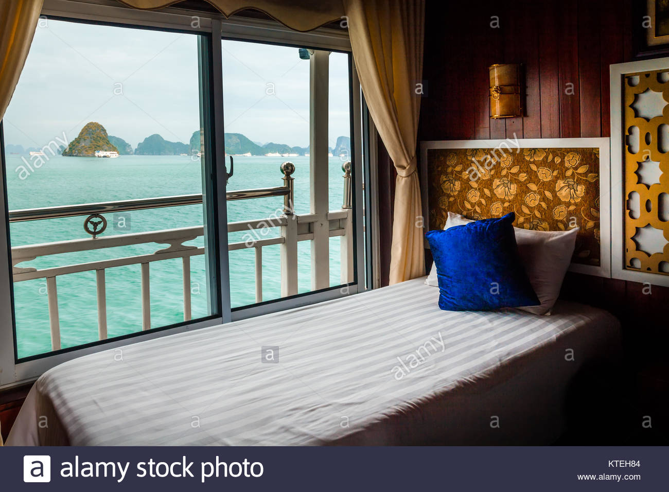Bed In Cruise Ship Cabin Halong Bay Vietnam Stock Photo Royalty - Cruise ship cabin pictures