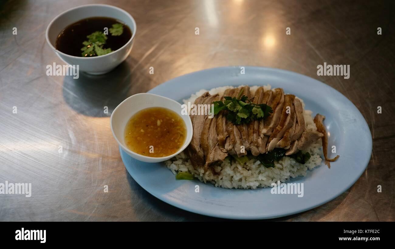 Open Air Flying Vegetable Restaurant Isaan Food Puk Boong Loyn