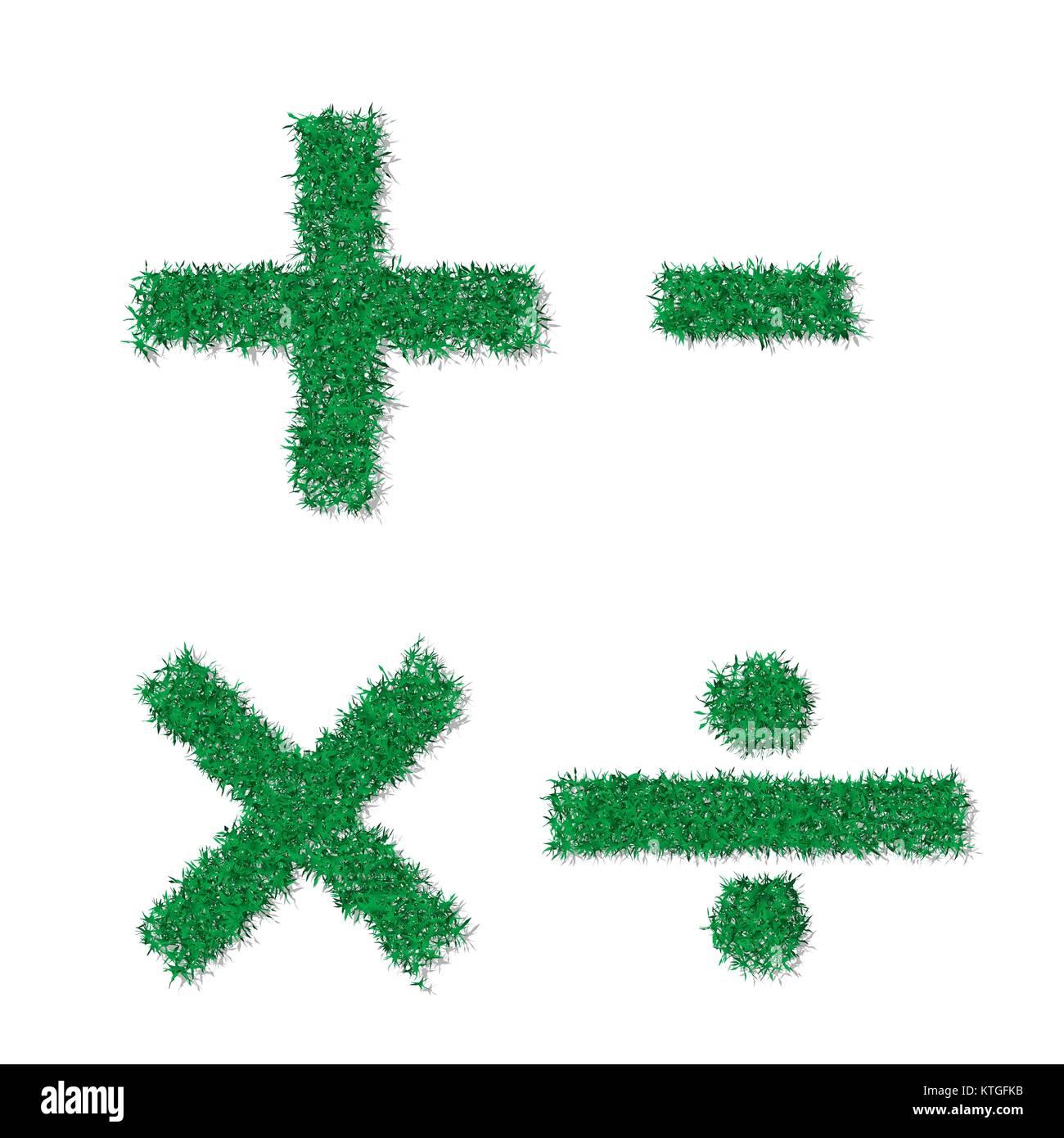 Vector green grass texture math symbols stock vector art vector green grass texture math symbols publicscrutiny Choice Image
