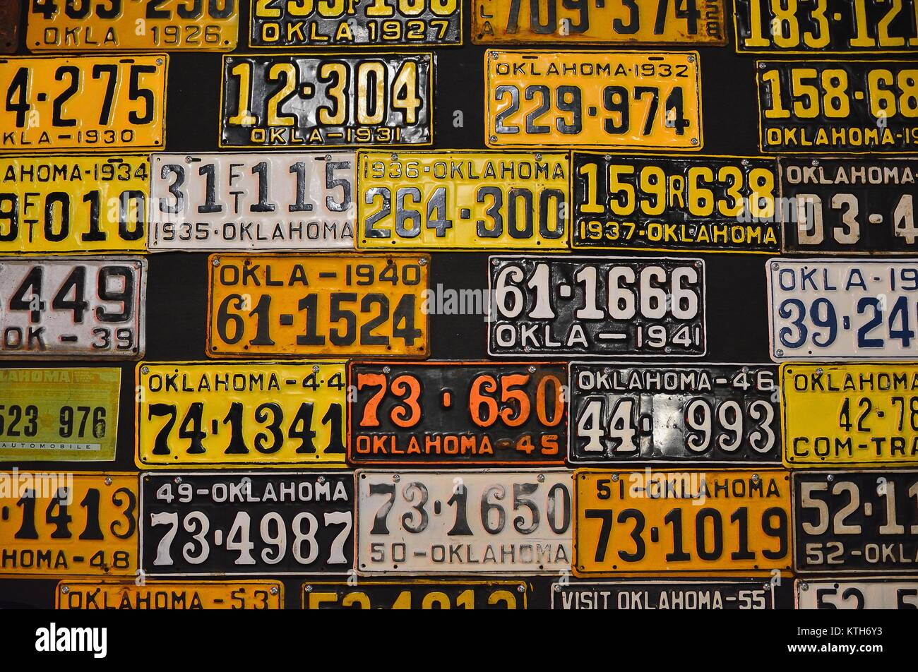 Old Car License Plates Stock Photos & Old Car License Plates Stock ...