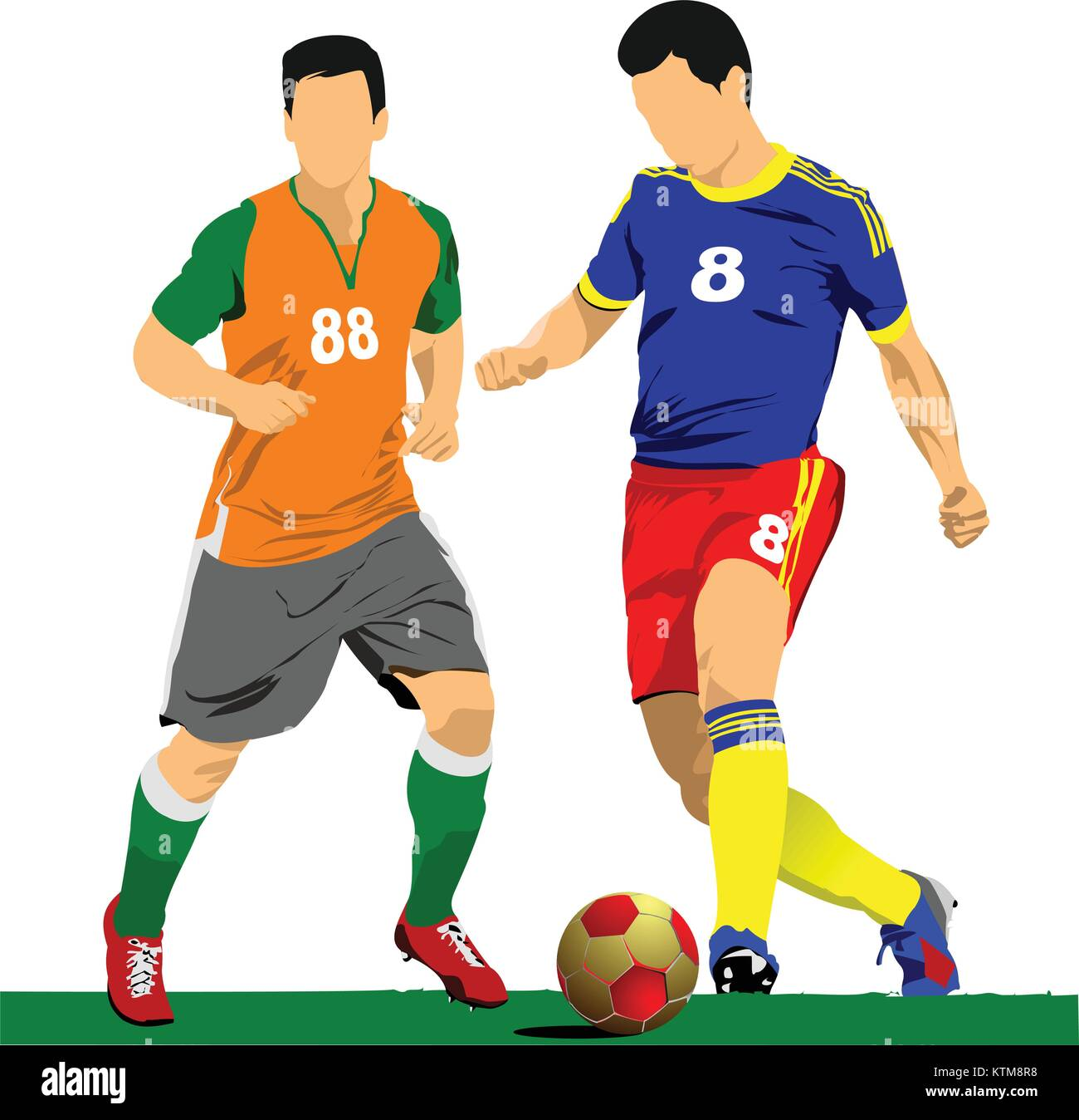 soccer player poster football player vector illustration stock