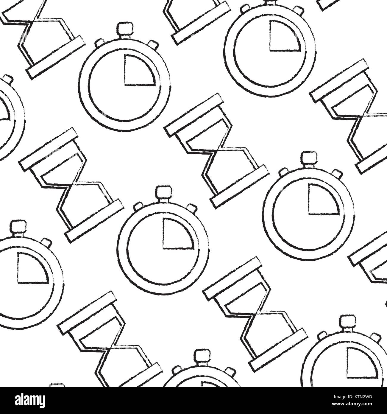 business time stopwatch hourglass sand seamless pattern vector stock Hourglass Pain business time stopwatch hourglass sand seamless pattern vector illustration