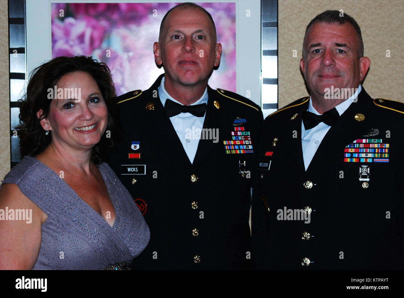 TROY, N.Y.   Friends And Family Joined Command Sgt. Maj. Frank Wicks And  His Wife, Beth Wicks At The Hilton Garden Inn For His Retirement Banquet  Aug.