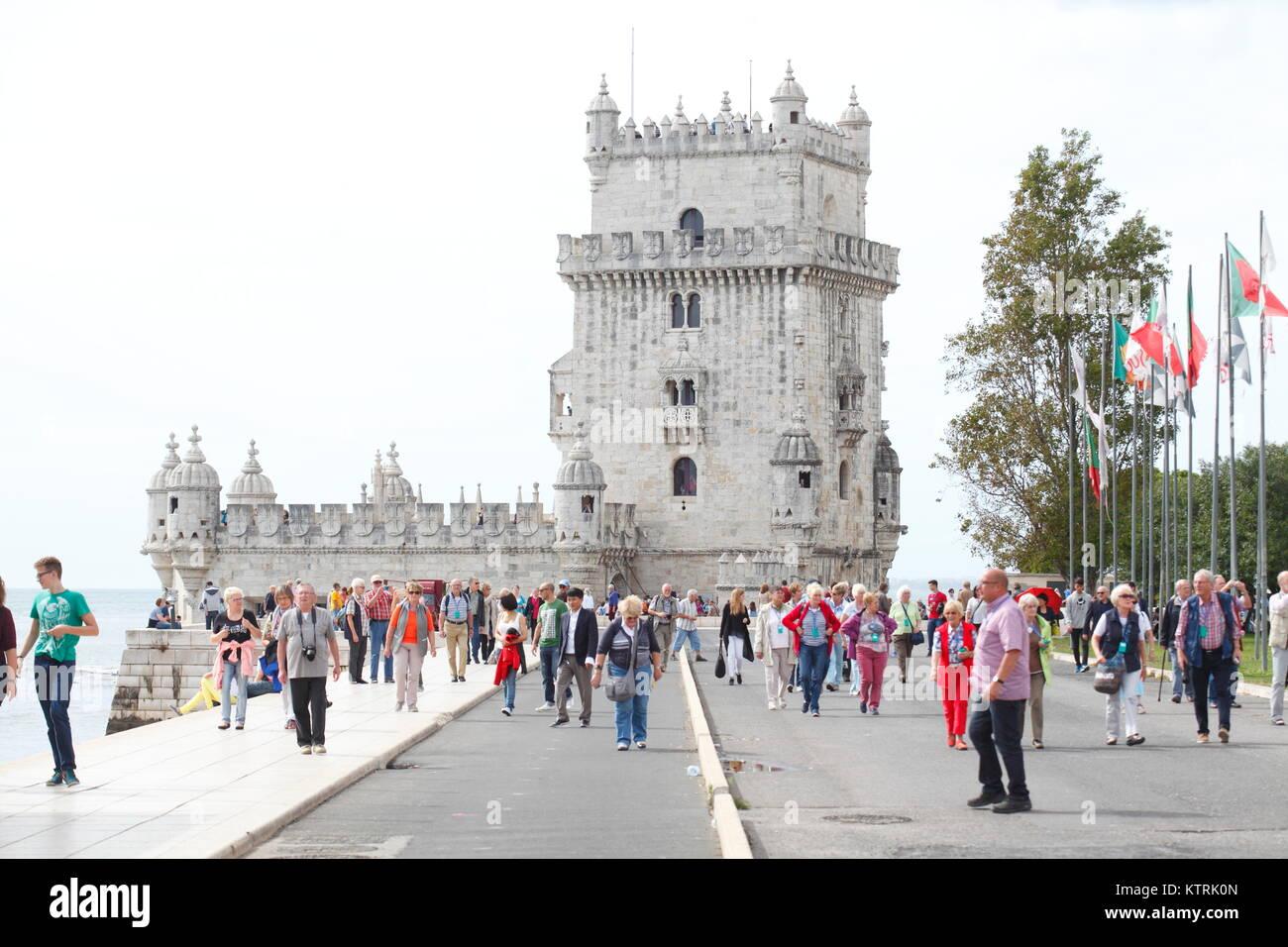 Lissabon Fluss torre de belém turm fluss tejo belem lissabon portugal europa i