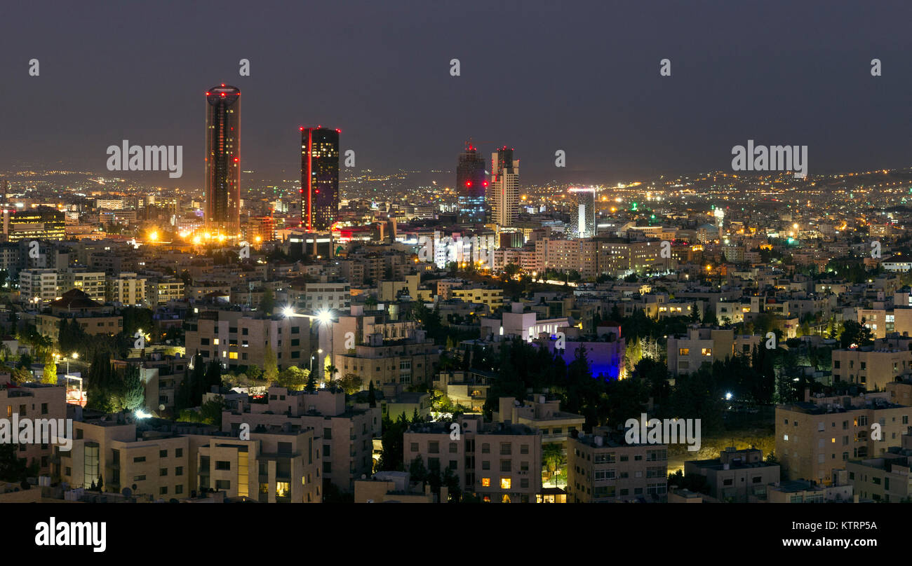 Modern Towers In Abdali Area At Night