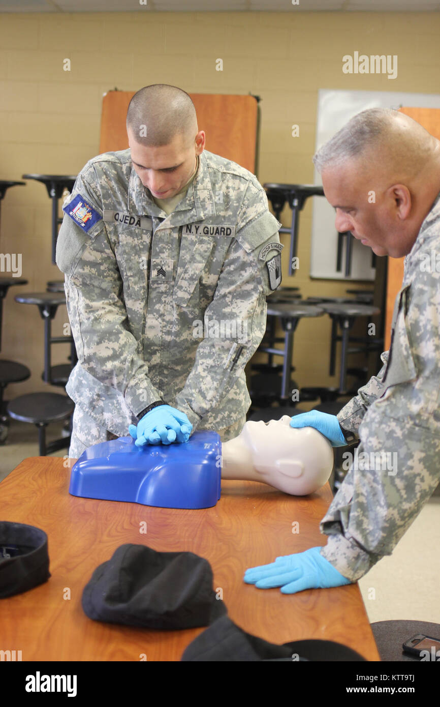 During the 22 april 2017 drill at camp smith cpt dunbar and wo1 drill at camp smith cpt dunbar and wo1 bashir of the 244th medical group conducted a cpr and first aid certification course for new york guard service xflitez Choice Image