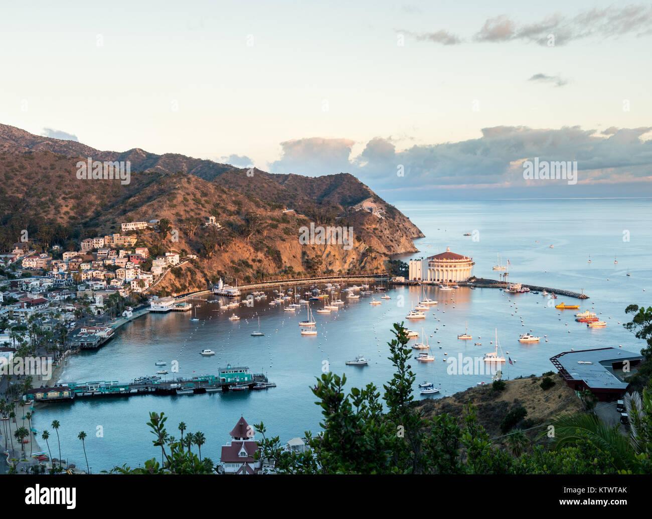 Catalina island california avalon bay stock photos for Catalina bay