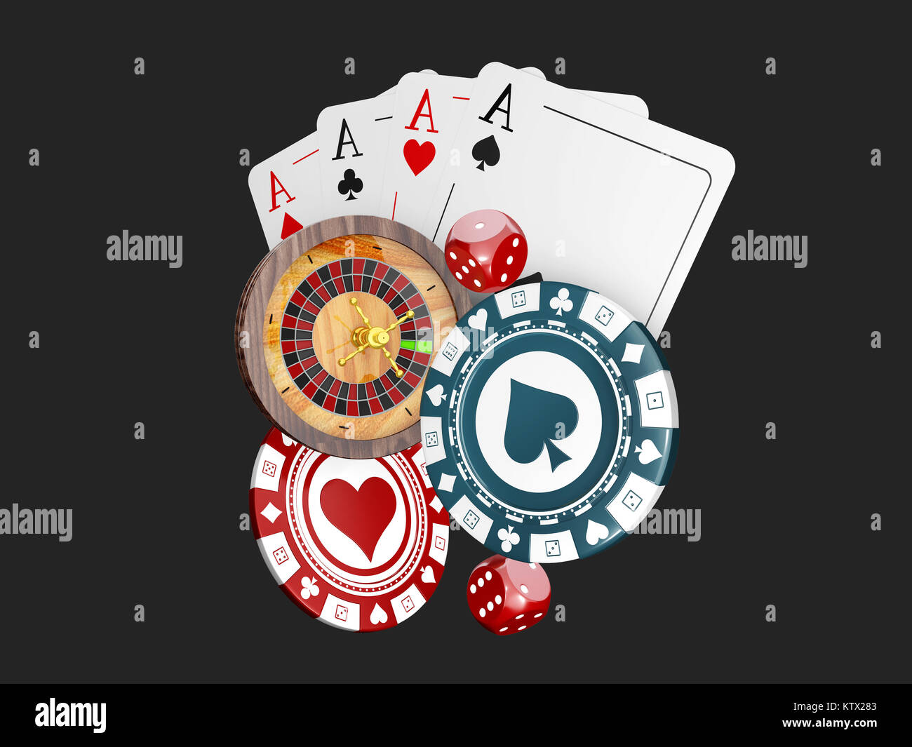 Casino Poker Design Template Falling Poker Cards And Chips Game - Game concept template
