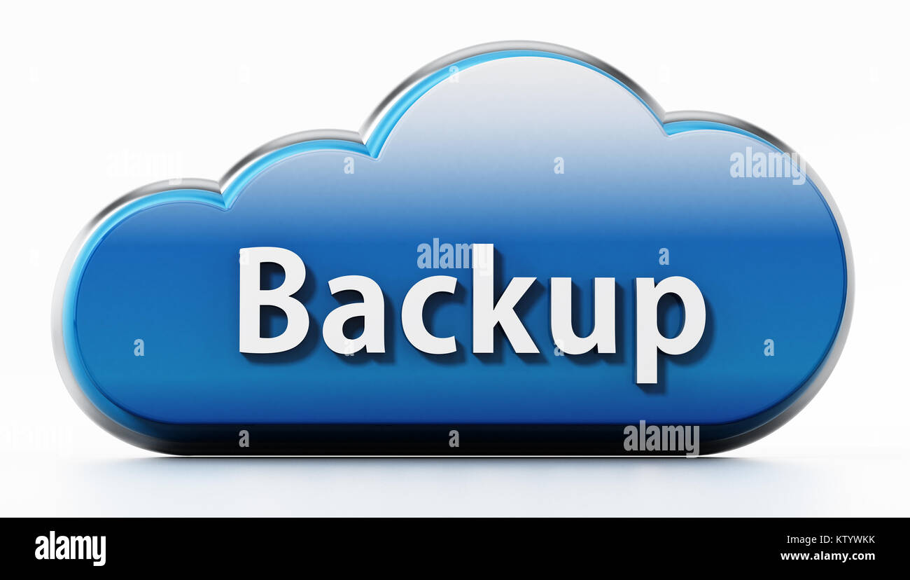 Cloud symbol with backup text 3d illustration stock photo cloud symbol with backup text 3d illustration biocorpaavc Gallery