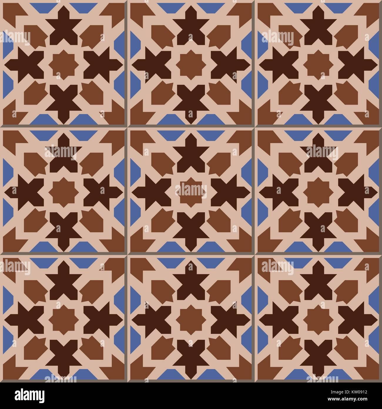 Islamic tile star stock photos islamic tile star stock images ceramic tile pattern of islamic brown geometry star shape kaleidoscope stock image dailygadgetfo Choice Image
