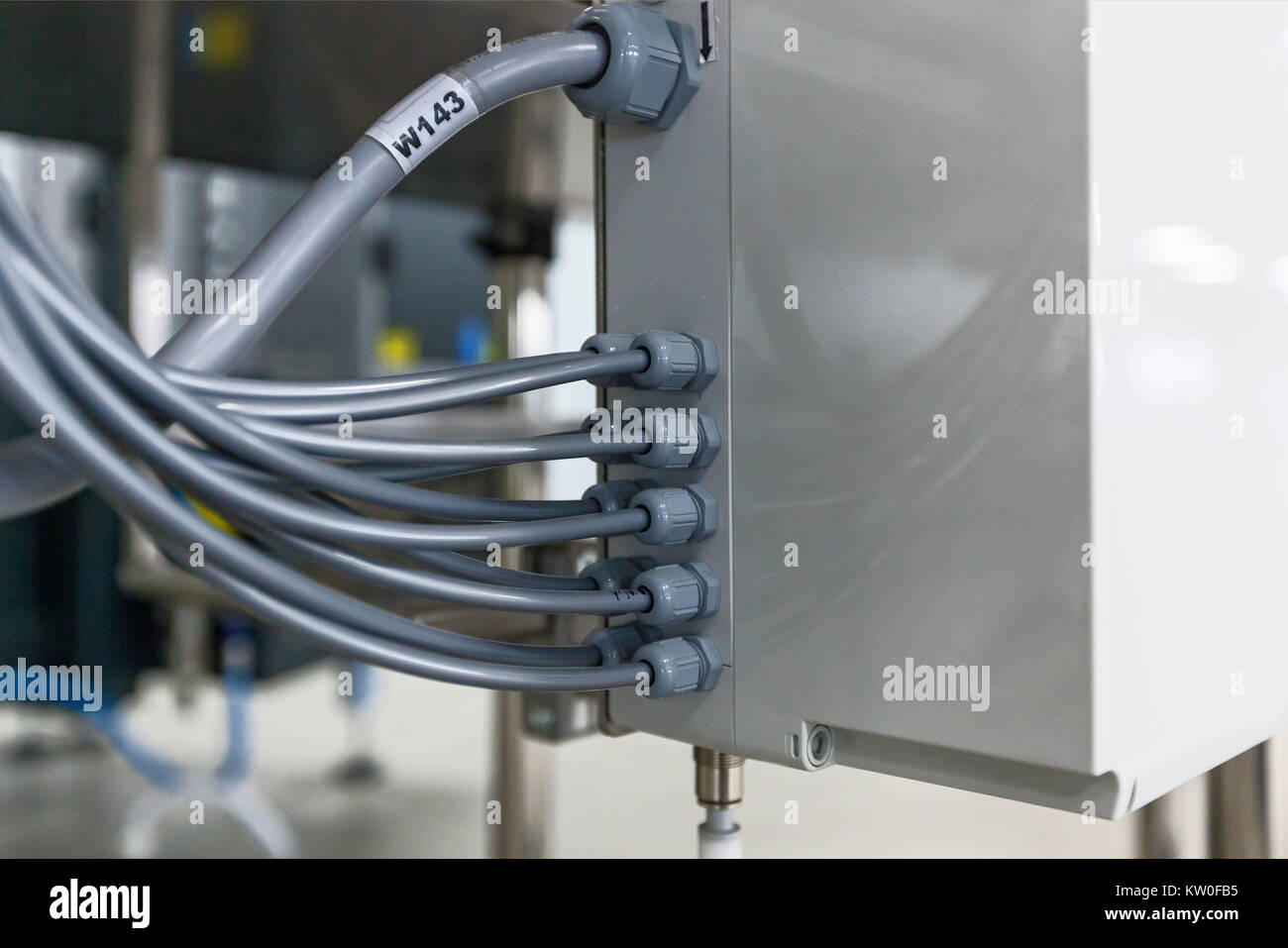 Electrical Junction Box Stock Photos Home Wiring With Cable Grand Connection Image
