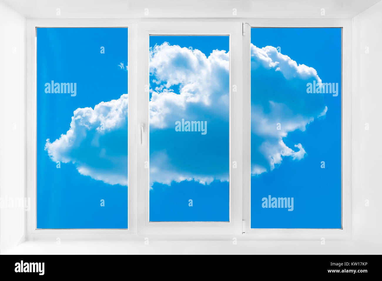 Plastic window with sky white plastic three chambered three sided white plastic three chambered three sided box jeuxipadfo Gallery