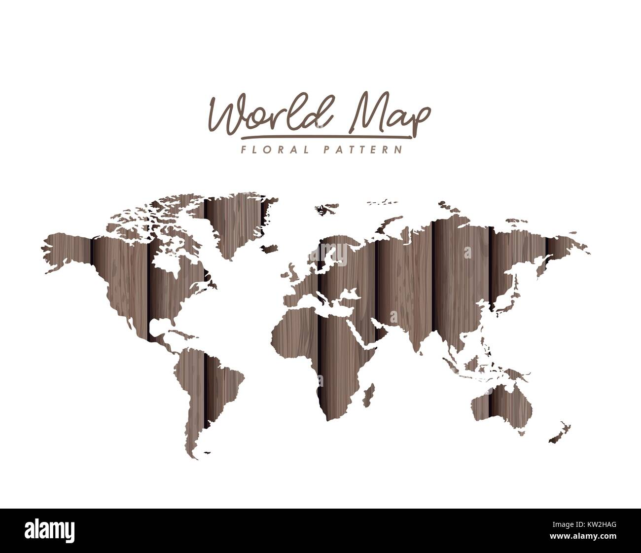 World map floral pattern with gray wood lines on white background world map floral pattern with gray wood lines on white background gumiabroncs Images