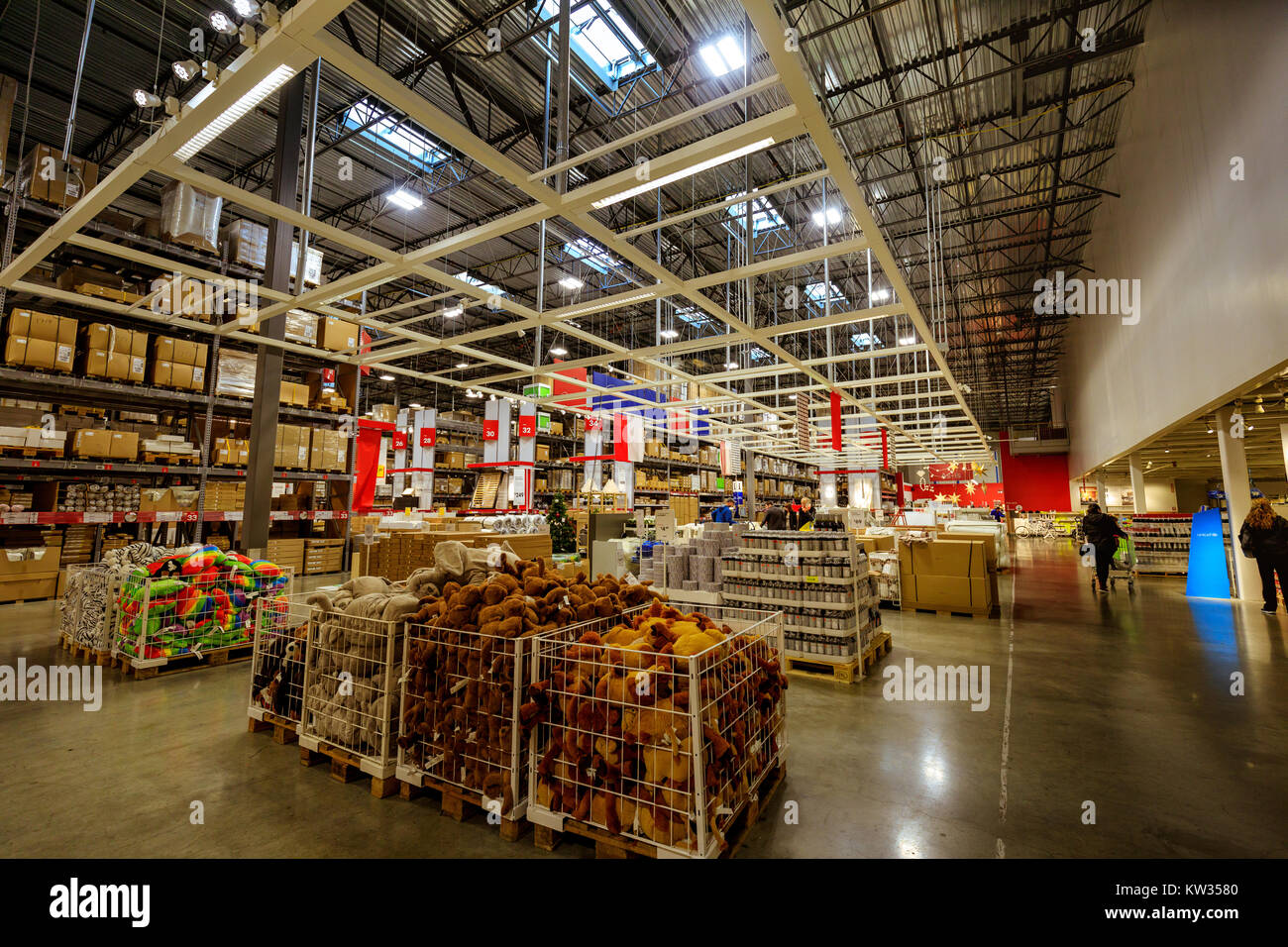 Portland, Oregon, United States   Dec 20, 2017 : Interior Of Large IKEA  Store With A Wide Range Of Products In Malmo, Sweden. Ikea Was Founded In  Swed