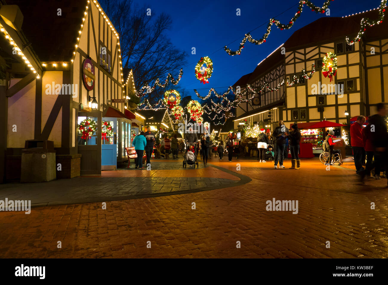 USA Virginia VA Williamsburg Christmas holiday at Busch Gardens ...