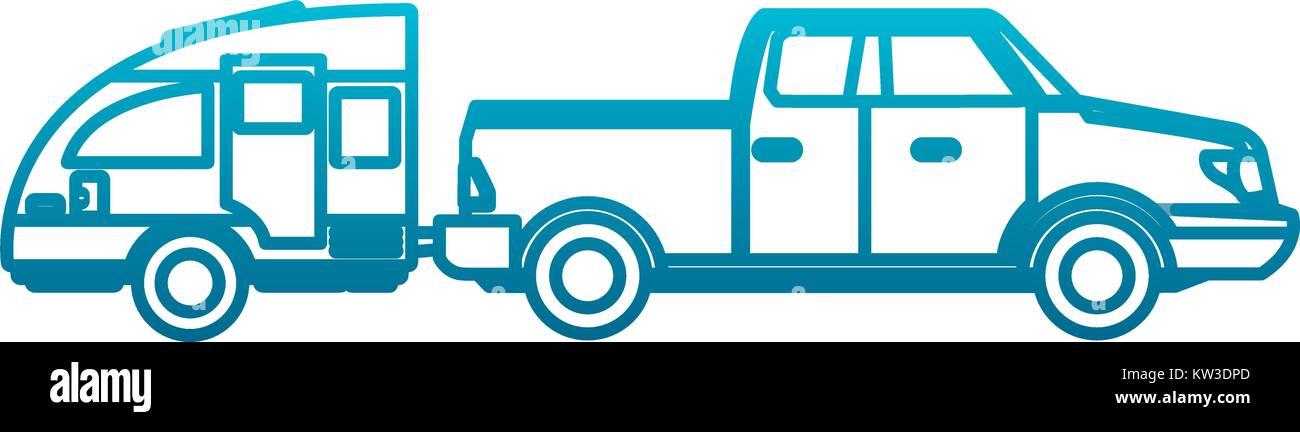 Pick up vehicle Stock Vector Art & Illustration, Vector Image ...