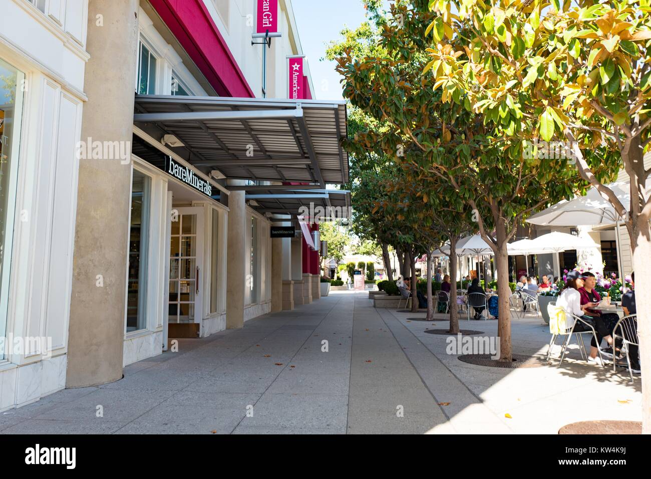 Commerce topics business stock photos commerce topics business main thoroughfare with stores including bare minerals and american girl at stanford shopping center biocorpaavc Images