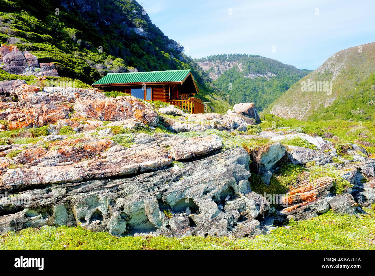 A Hut Overlooking The Sea Along The Otter Trail Hike On The Garden Route In  South Africau0027s Western Cape Province