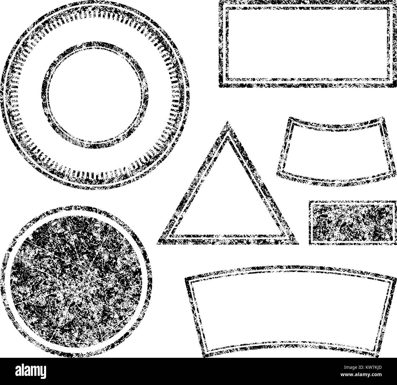 big set of grunge templates for rubber stamps vector illustration