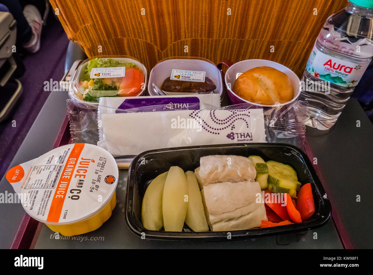 low fat heathy airline meal stock photo 170463973 alamy