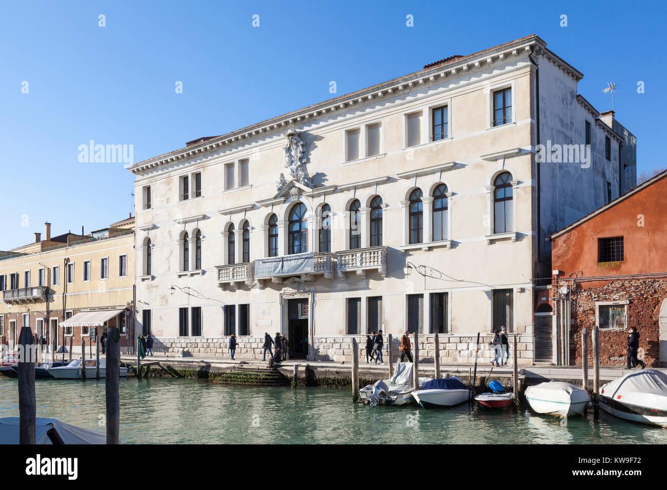 Museo Del Vetro Murano.Exterior View Of The Murano Glass Museum Museo Del Vetro