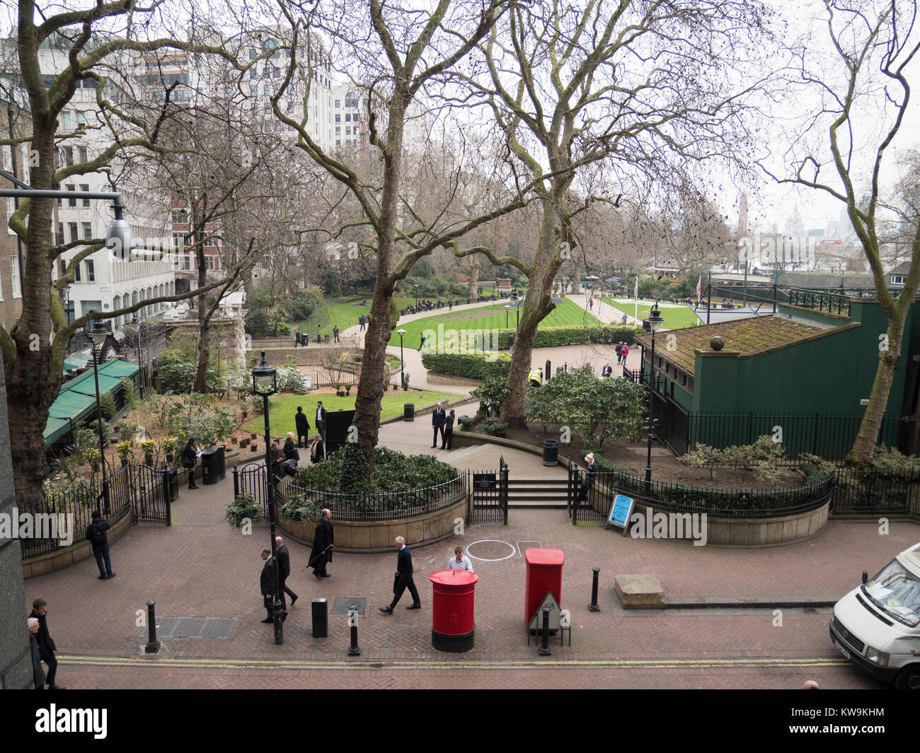 High View Of Victoria Embankment Gardens London W1 England Stock