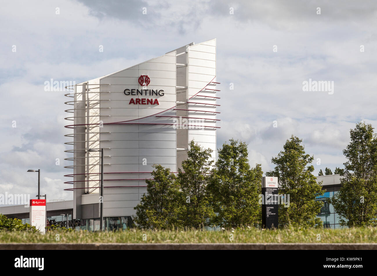 Part of the modern architecture of the Genting Arena, part of the ...