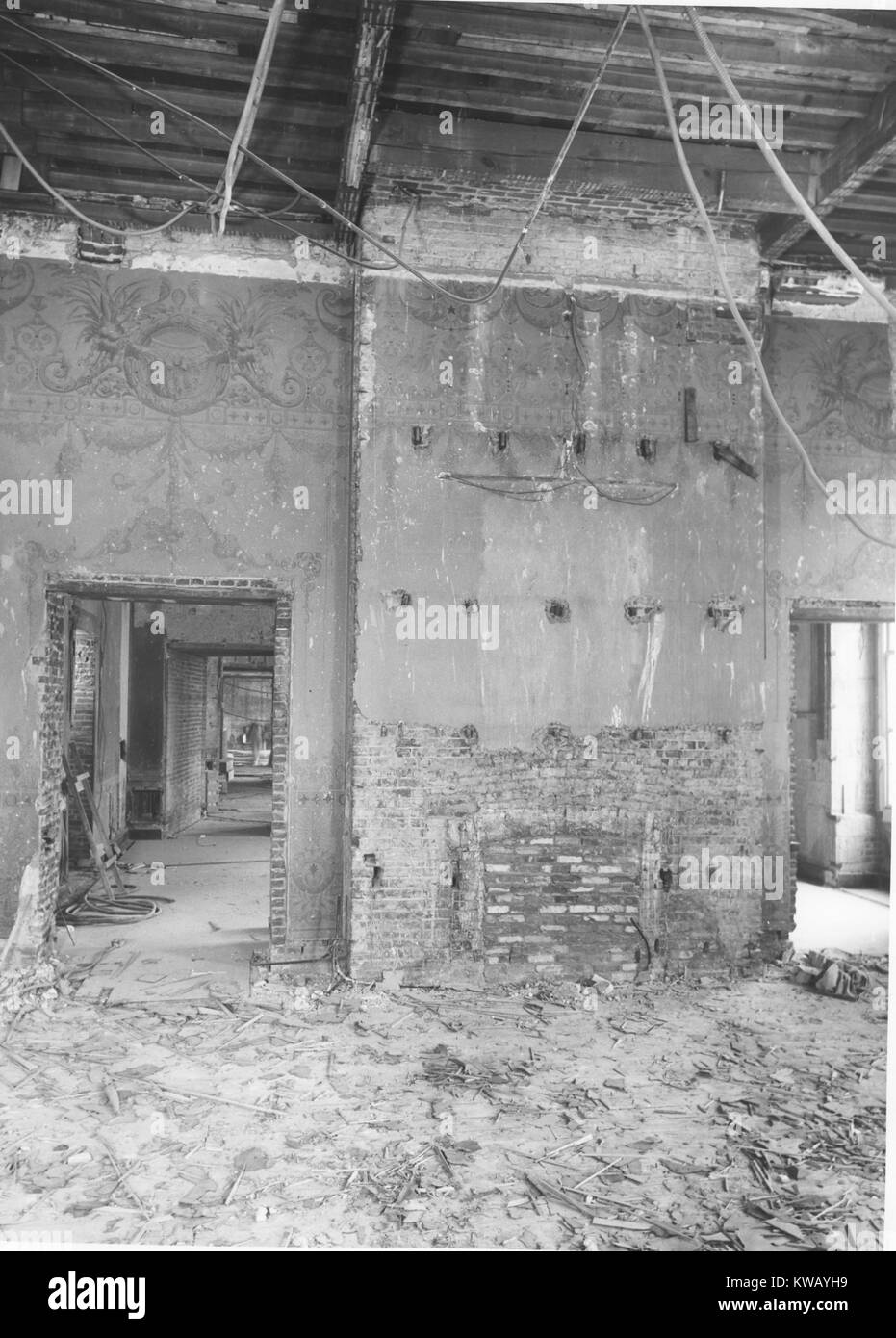 East wall of the state dining room of the white house during stock east wall of the state dining room of the white house during renovation washington dc march 1950 dzzzfo