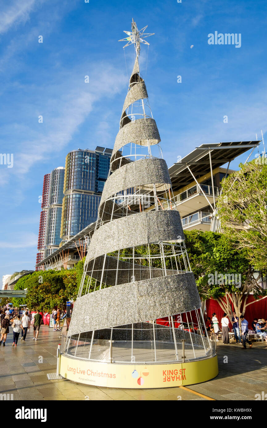 a christmas tree at king street wharf in darling harbour sydney australia search with ukaus words search singular then plural of word - Plural Of Christmas