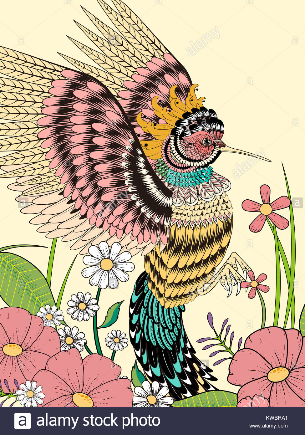 lovely hummingbird coloring page in exquisite line KWBRA1