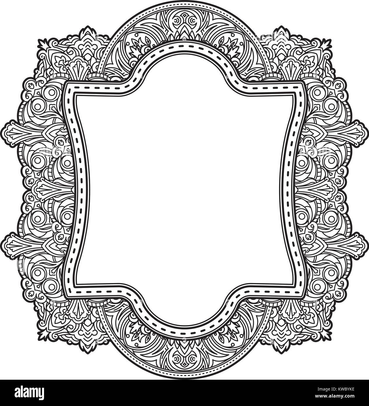 Ethnic template for design wedding invitations and greeting cards ethnic template for design wedding invitations and greeting cards henna flowers mehndi elements of vintage patterns indian or asian motif vector il stopboris Images
