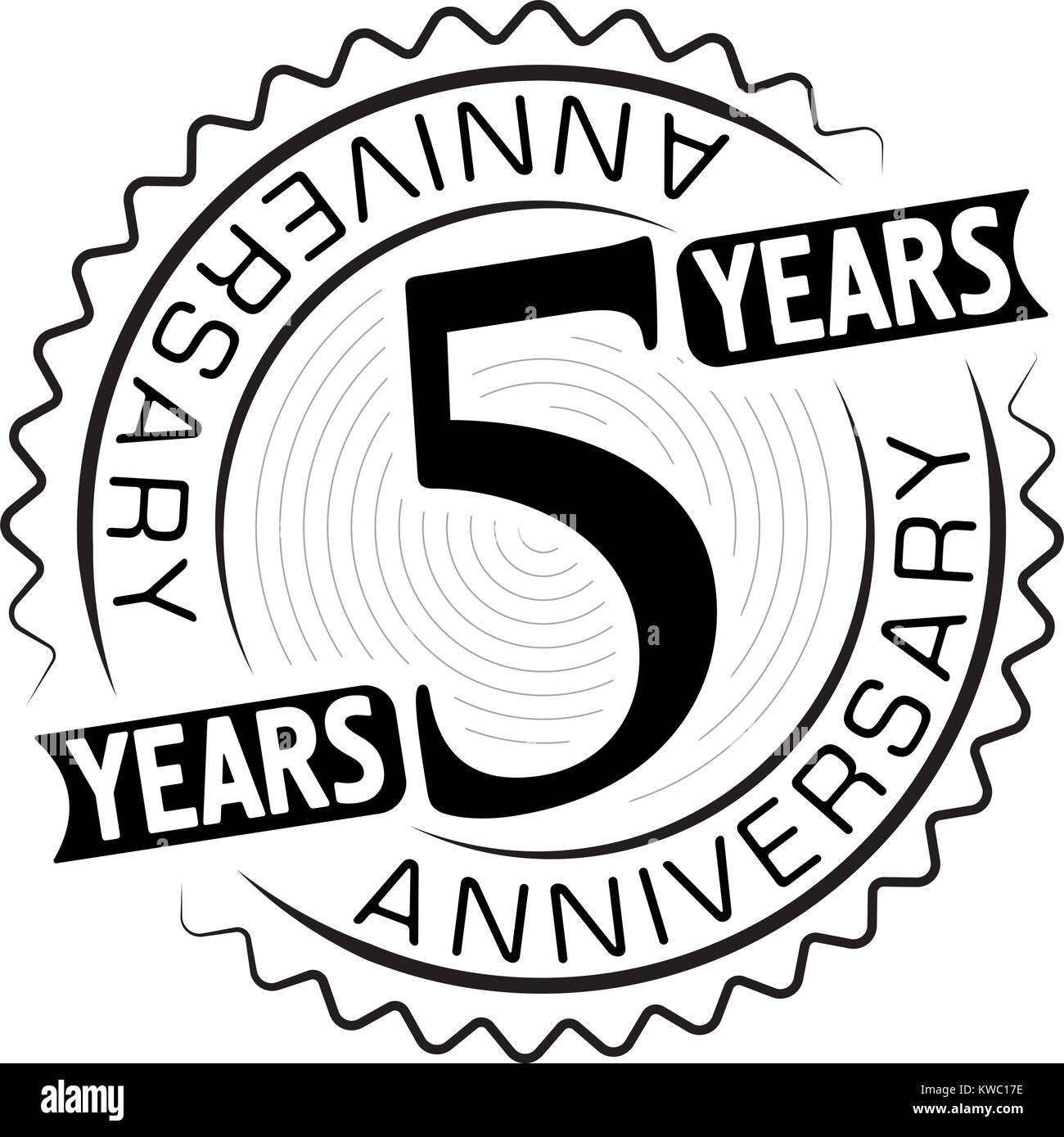 5 year old stock vector images alamy vintage anniversary 5 years round emblem retro styled vector background in black tones biocorpaavc Choice Image