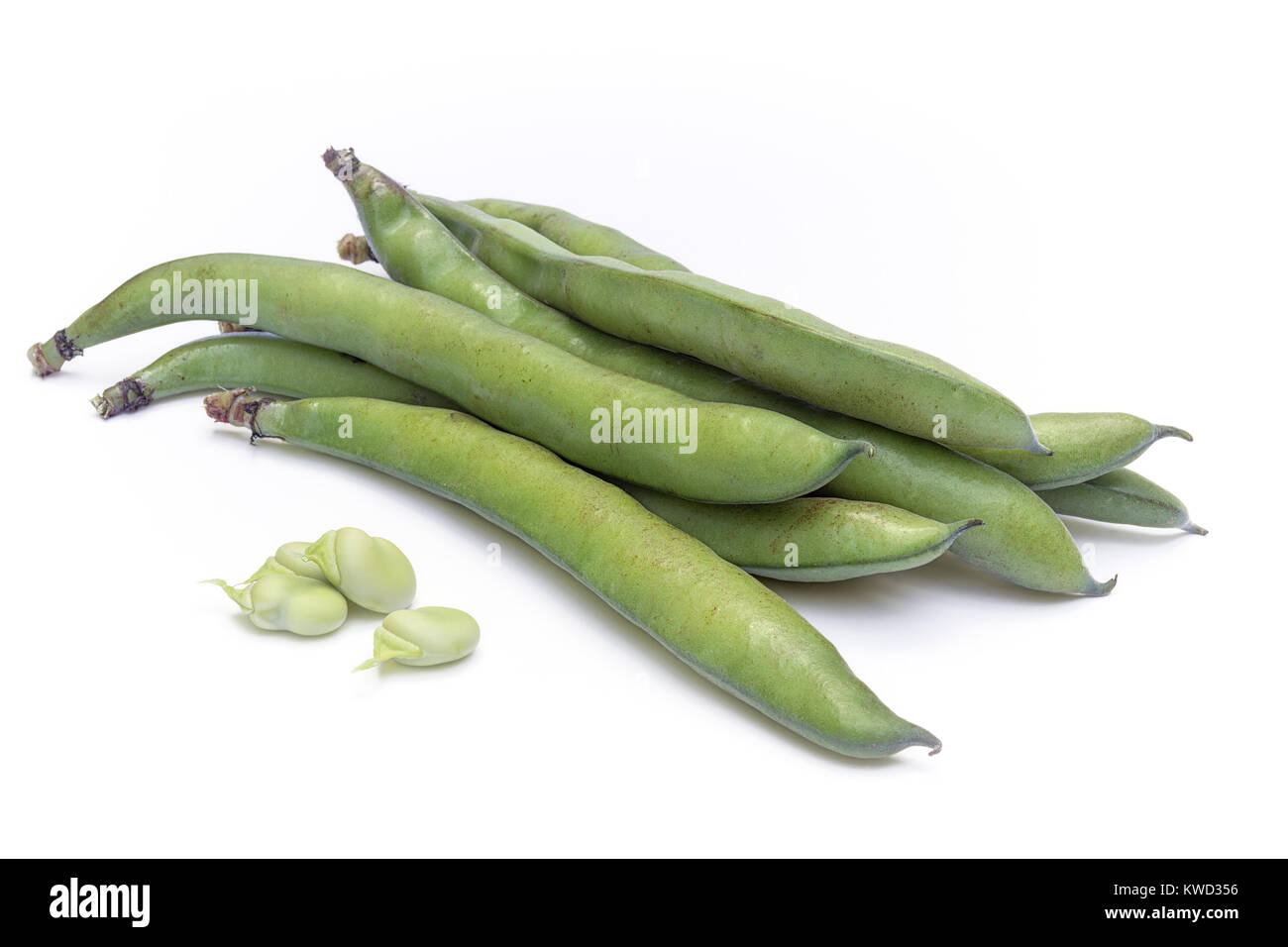 how to cook broad beans in pods