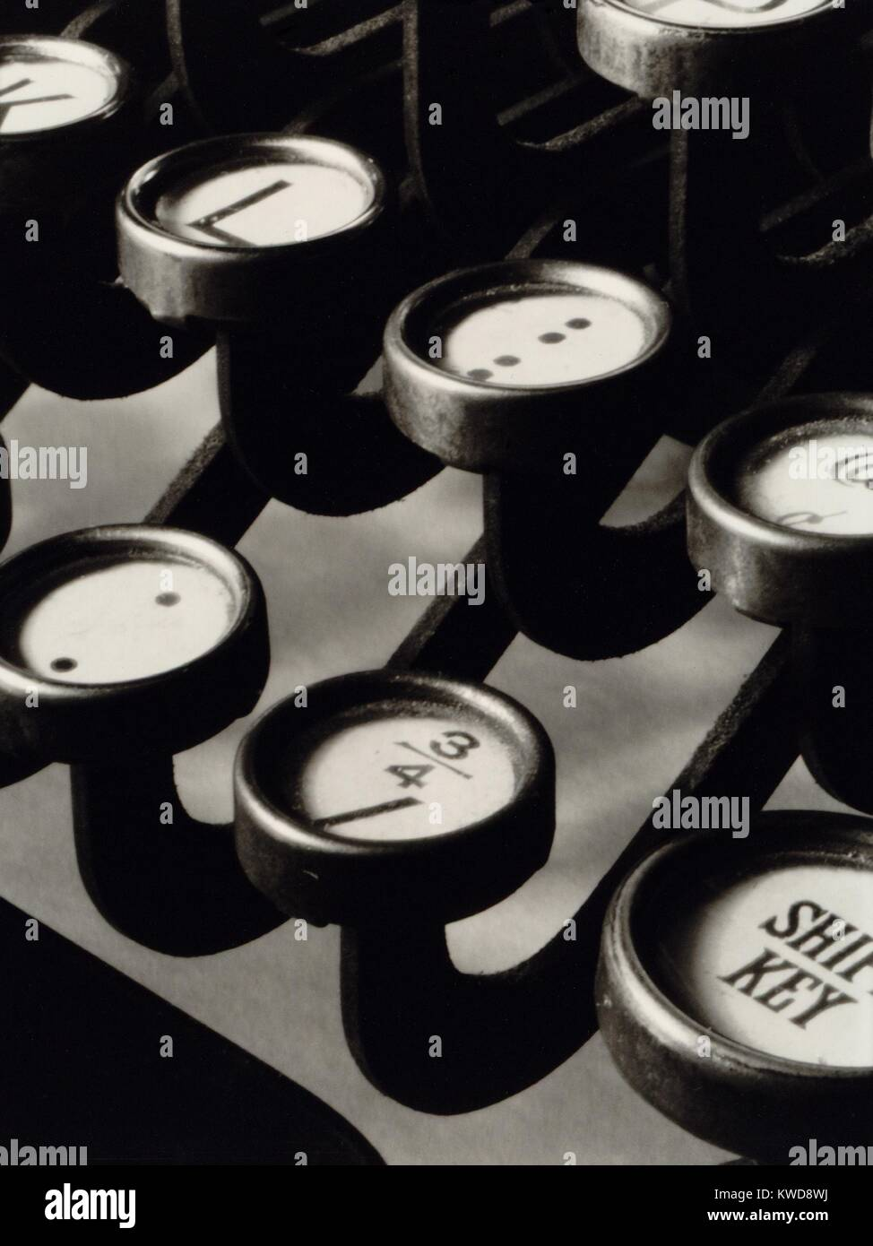 close up photograph of keys of a manual typewriter by ralph steiner rh alamy com Up Close and Personal Photography Up Close and Personal Photography