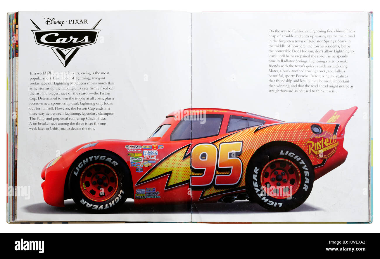 Pixar Character Lightning Mcqueen From The Film Cars In A Pixar