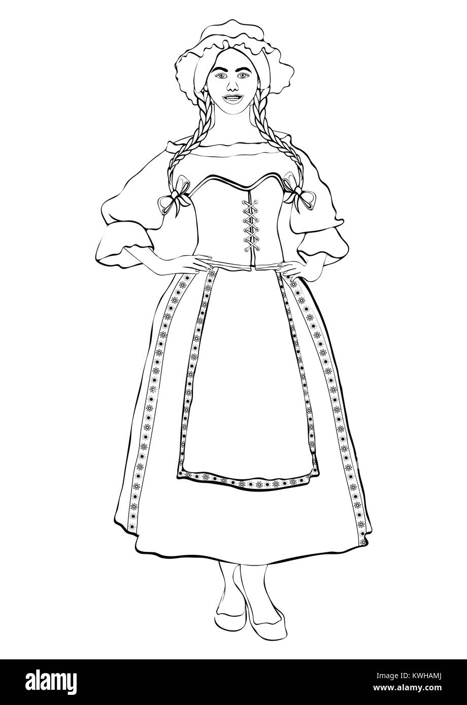 Acadie black and white dresses