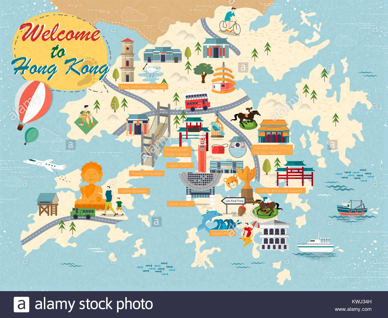 Hong Kong Map Stock Photos Hong Kong Map Stock Images Page 2 Alamy