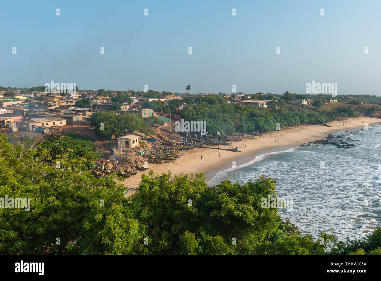 small town of senya beraku, gold coast, central region, ghana