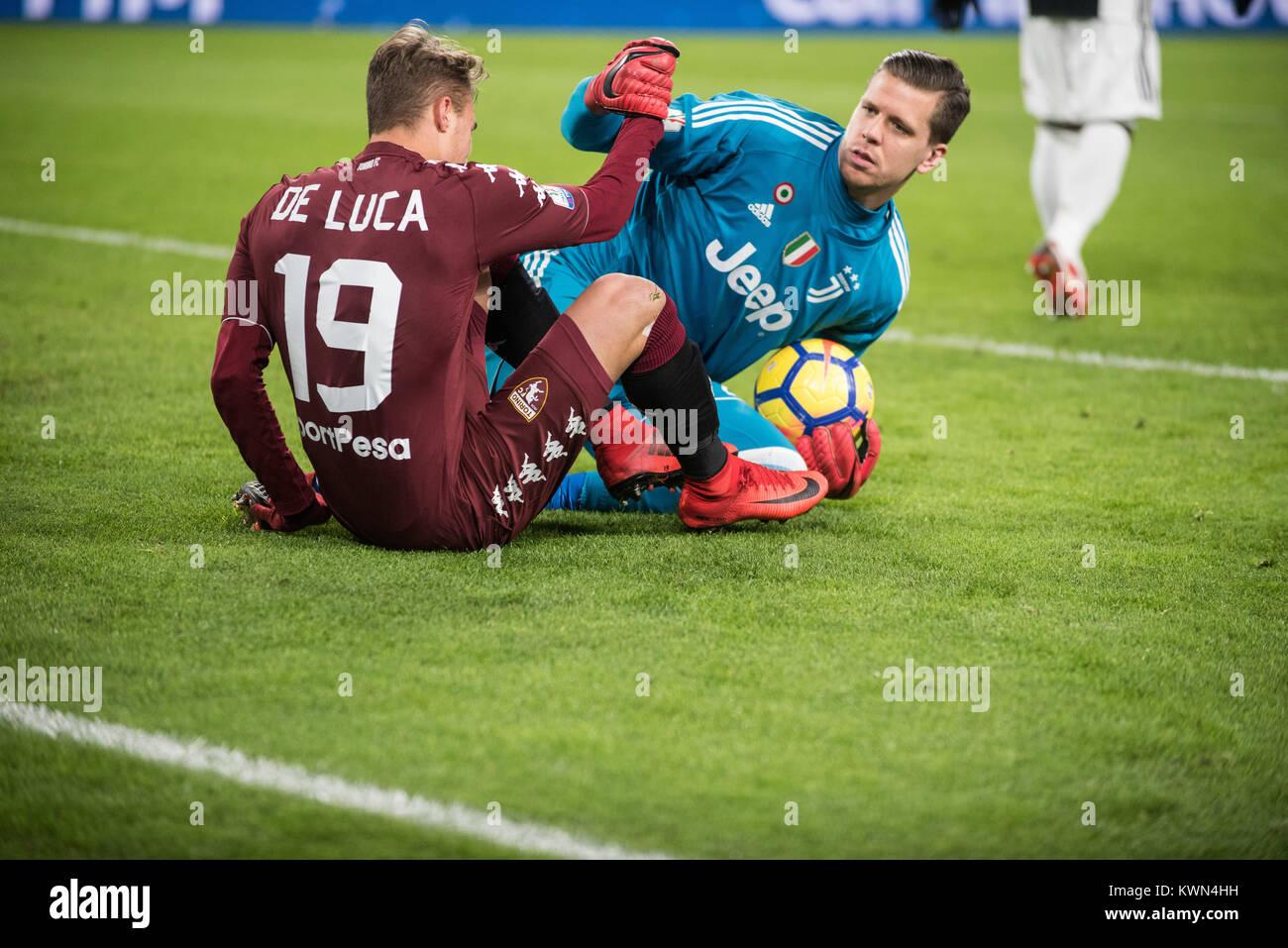 afc458c46c Manuel De Luca (Torino FC) and Wojciech Szczesny (Juventus FC) during the  Tim Cup football match Juventus FC vs Torino FC. Juventus won 3-0 in Turin