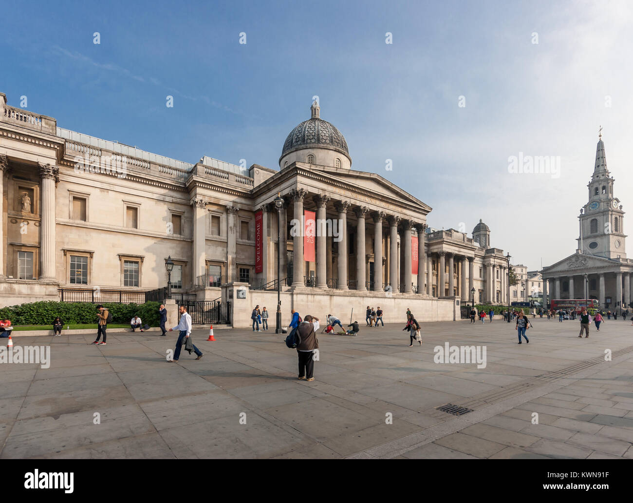 National Gallery Building In London Facade On Trafalgar Square By William Wilkins 1832