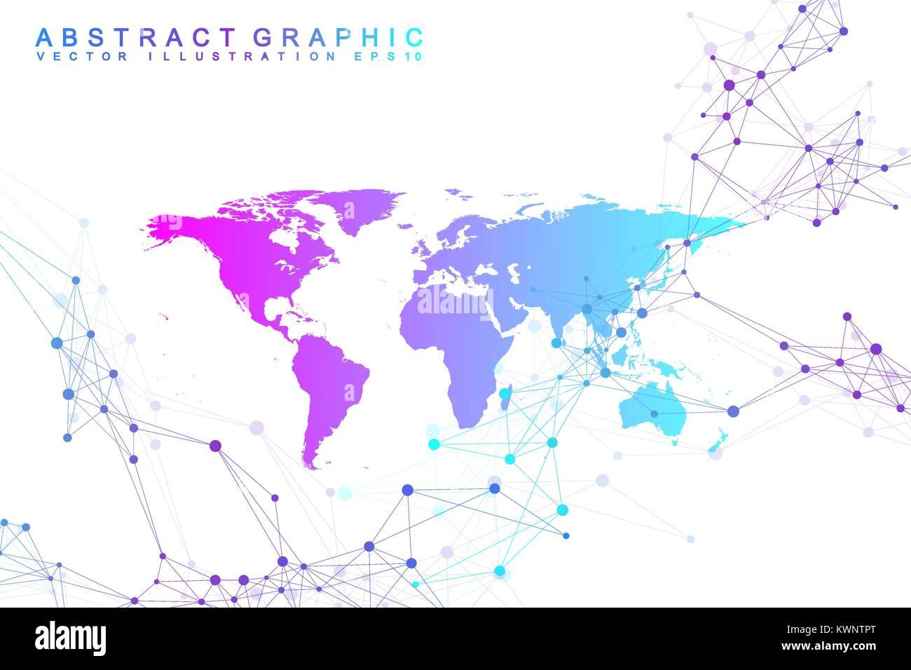 Political world map with global technology networking concept stock political world map with global technology networking concept digital data visualization lines plexus big data background communication gumiabroncs Choice Image