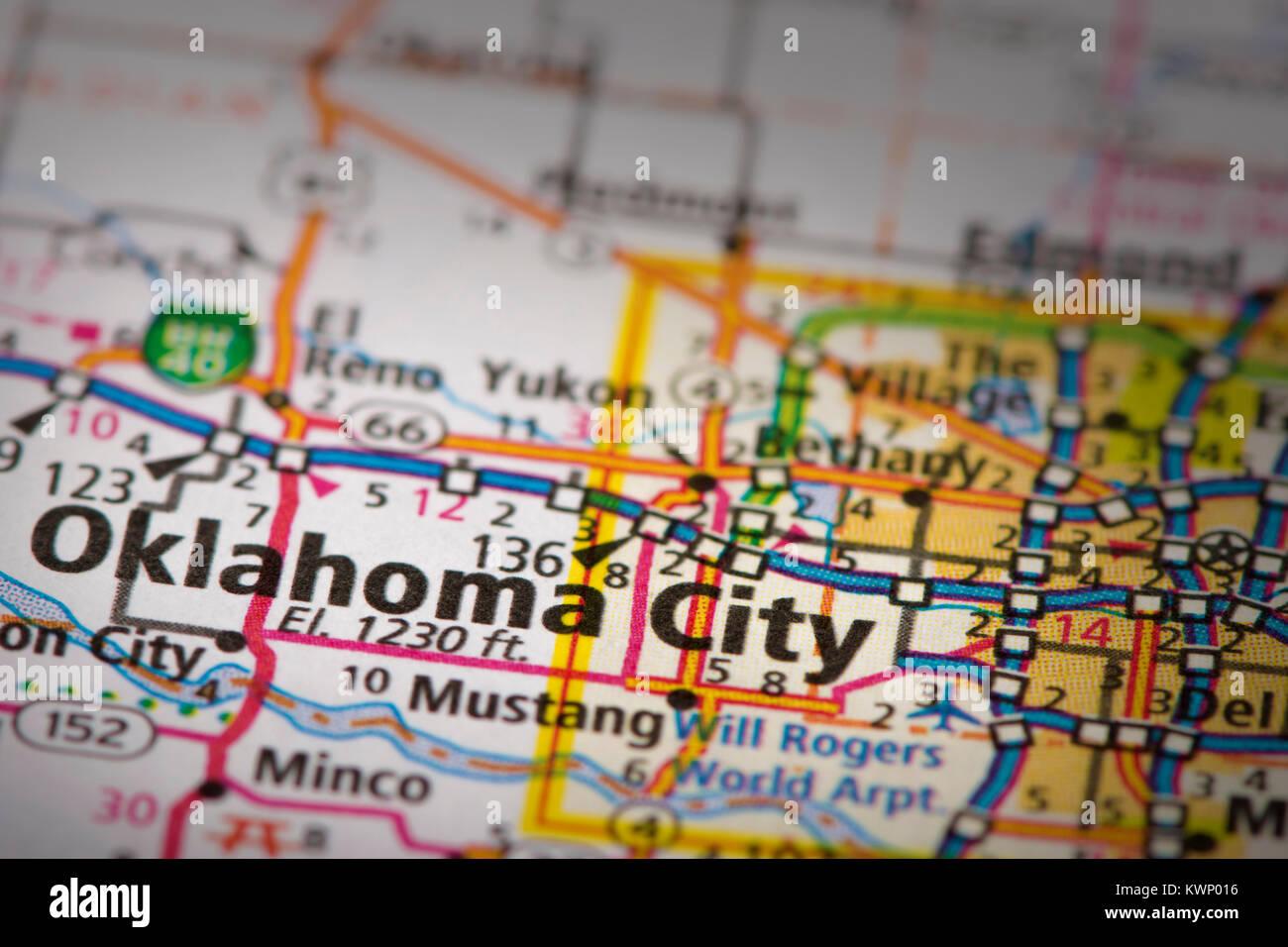 Oklahoma City Map Stock Photos Oklahoma City Map Stock Images Alamy
