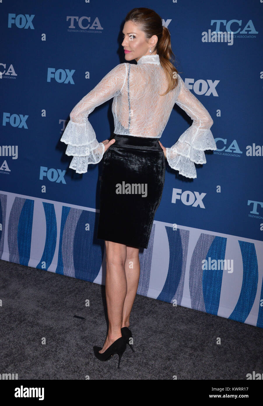 Tricia Helfer 041 Attends The Fox All Star Party During The 2018 Winter Tca Tour At The Langham Huntington Pasadena On January 4 2018 In Pasadena
